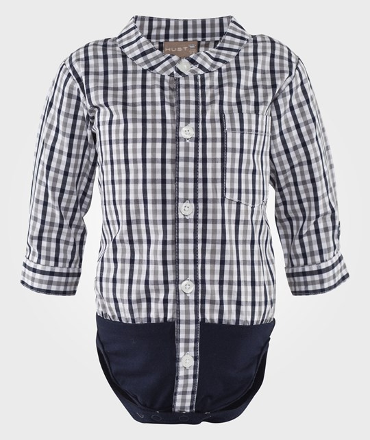 Hust&Claire Shirt Body Check Night Blue Sand