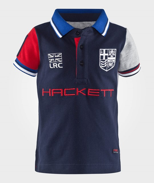 Hackett Lrc Polo Navy/Multi Blue