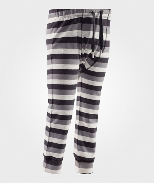Mexx Black/Grey/White Striped Leggings Multi