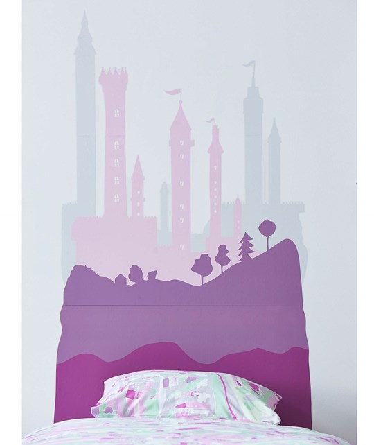 Kids Concept Wall Stickers Fairy  Pink/Lilac Pink