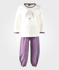 Celavi Pyjama Set Headgehog Purple