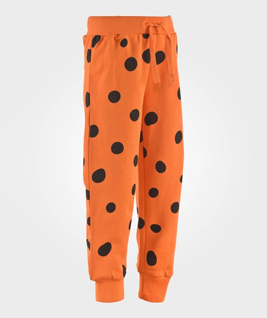 Mini Rodini Dot Sweatpant Orange Oransje