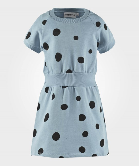 Mini Rodini Dot Short Sleeve Raglan Dress Blue Blue