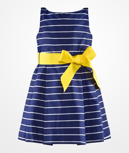 Ralph Lauren Striped Fit And Flare Dress Blue blue multi
