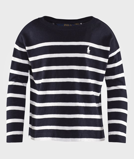 Ralph Lauren Long Sleeve Stripe Top Aviator Navy AVIATOR NAVY MULTI