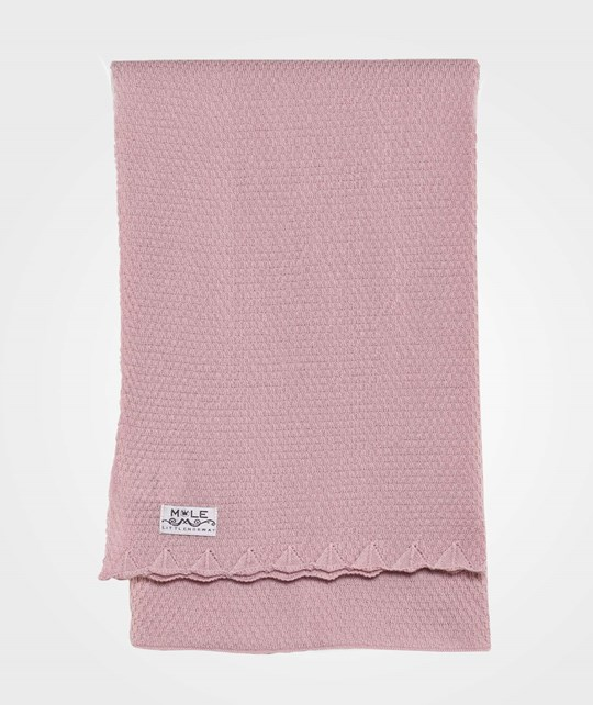 Mole Little Norway Pearl Knit Baby Blanket Pink Pink