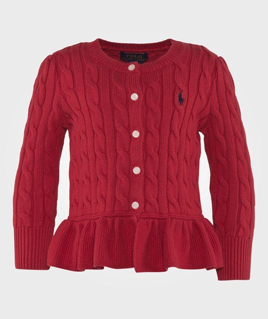 Ralph Lauren Cabled Cotton Cardigan Red Rl2000 Red