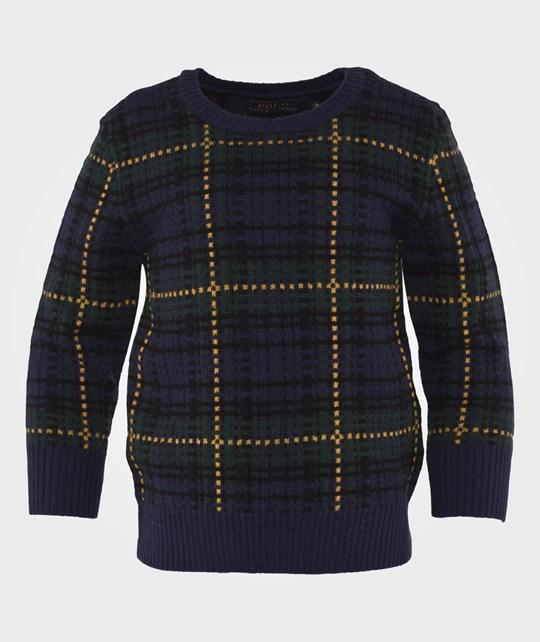 Ralph Lauren Plaid Wool-Blend Sweater HOLIDAY PLAID