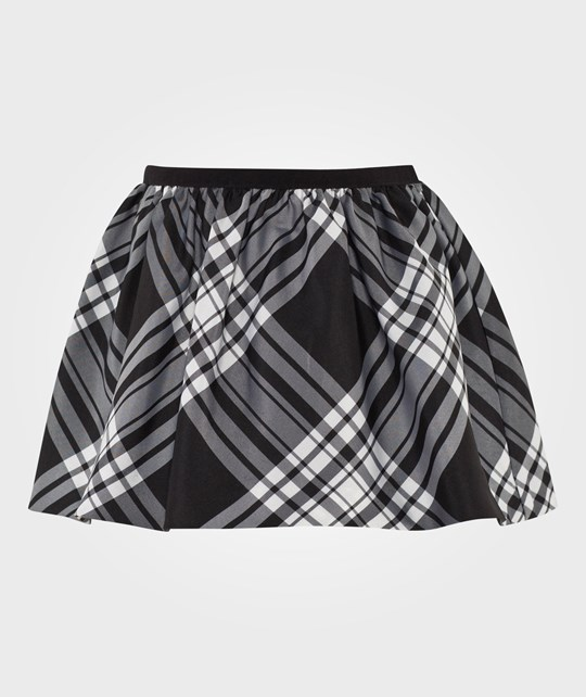 Ralph Lauren Юбка Plaid Taffeta Pull-On Skirt Cream/Black CREAM/BLACK