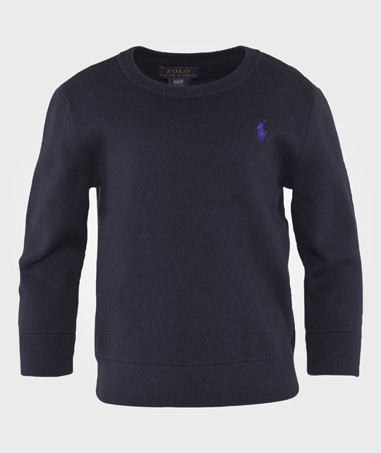 Ralph Lauren Лонгслив Cotton Crewneck Sweater Hunter Navy Hunter Navy