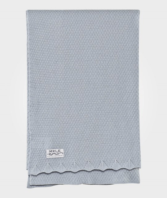 Mole Little Norway Pearl Knit Baby Blanket Light Blue Light Blue