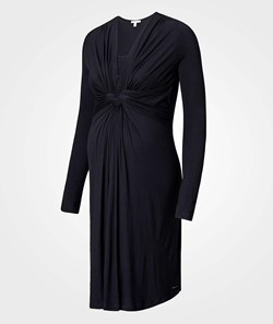 Esprit Maternity Dress Nursing LS Black