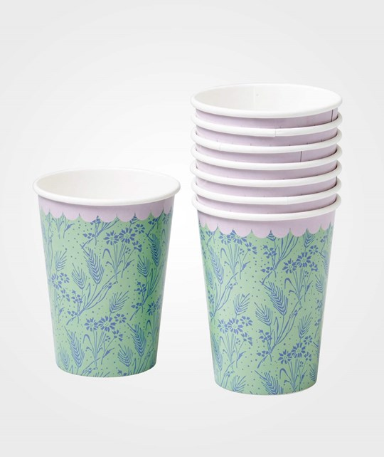Rice Pack of 8 Paper Cups Blue Multi