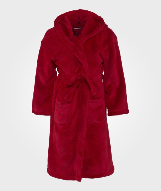 The Little White Company Red Snuggle Velour Robe Röd