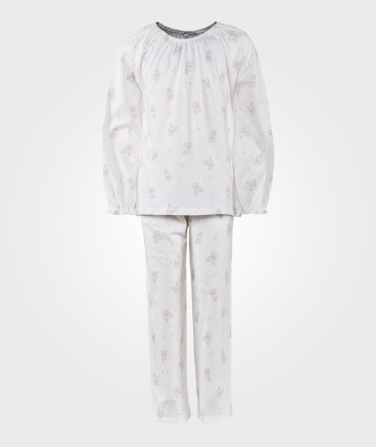 The Little White Company White Snow Fairy Pyjamas W Elasticated Neckline Vit