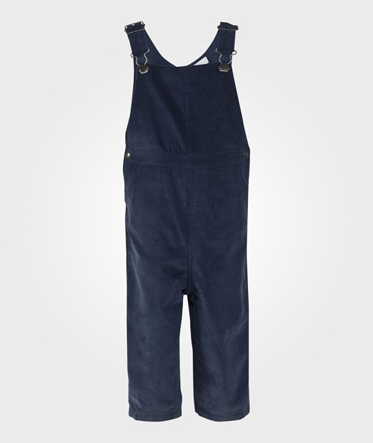 The Little White Company Navy Corduroy Dungarees Blå