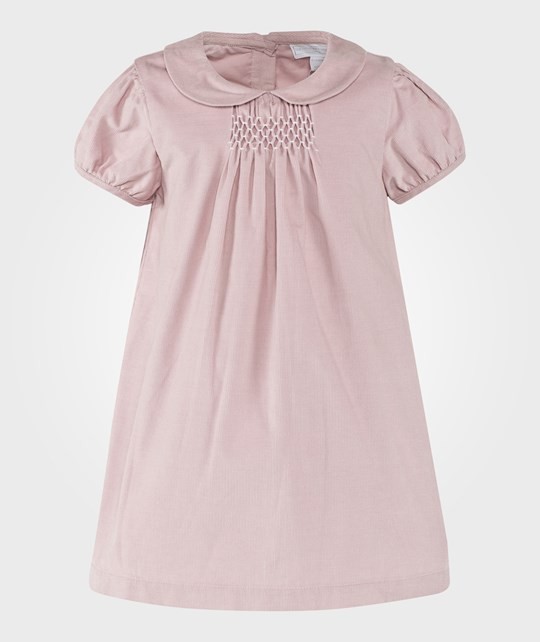 The Little White Company Dusty Rose Smocked Cord Dress Pink