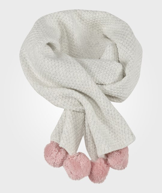 The Little White Company Pom Pom Scarf Beige