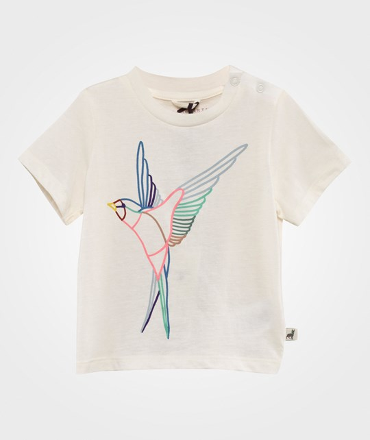 Stella McCartney Kids Chuckle T Shirt W/Birds Pr Cloud