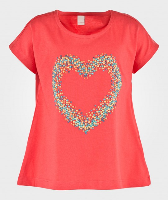 Esprit Heart T-Shirt Coral Red Rød
