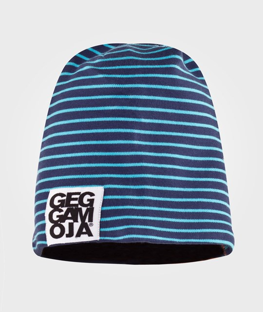 Geggamoja Two Color Cap Fleece Marine/Orange Blå