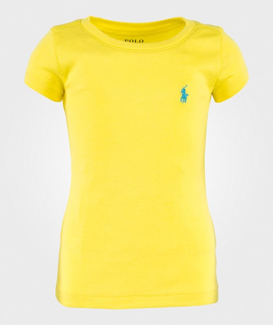 Ralph Lauren Pima Puuvilla T-paita Yellow Flash YELLOW FLASH