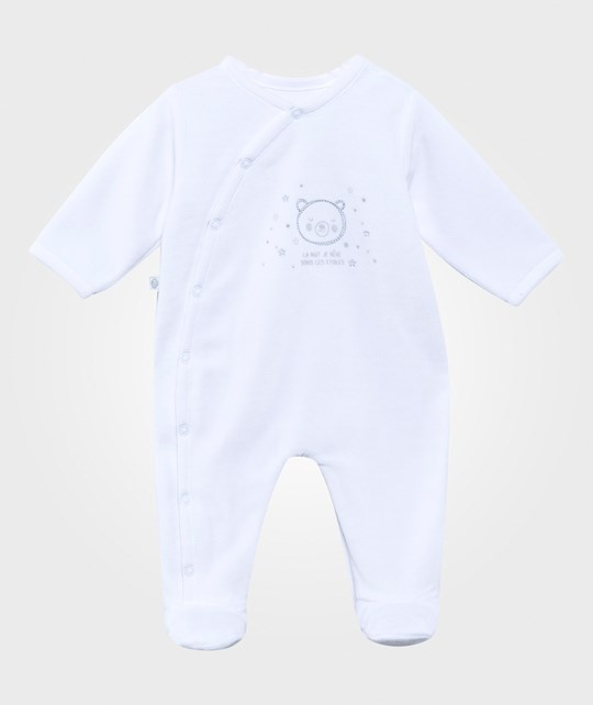 Absorba Sleepsuit Velour White White