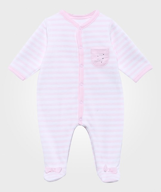 Absorba Sleepsuit Stripes Pink Peach