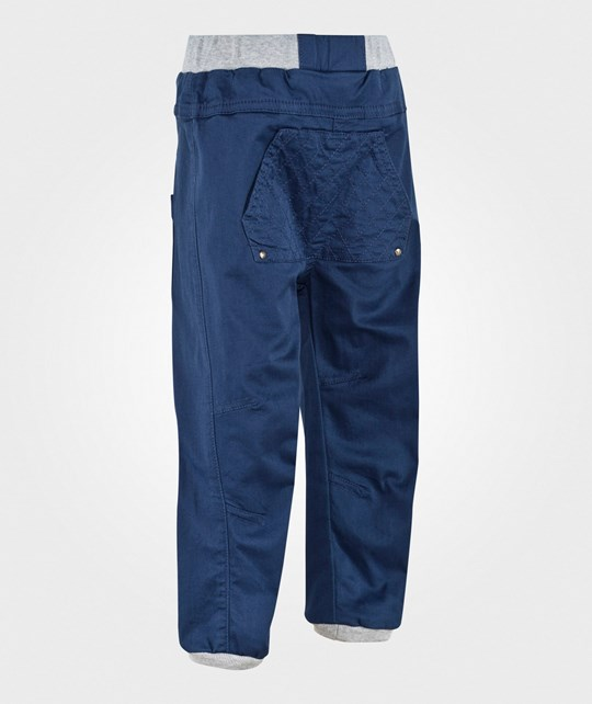 Hust&Claire Pants With Quilt Pocket Deep Blue