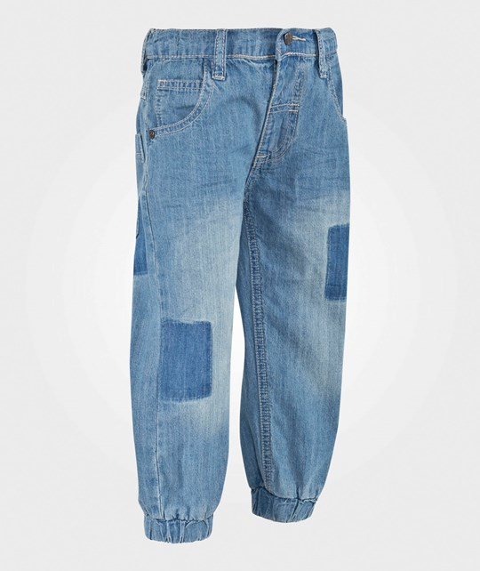 Hust&Claire Baggy Pants Washed Denim WASHED DENIM