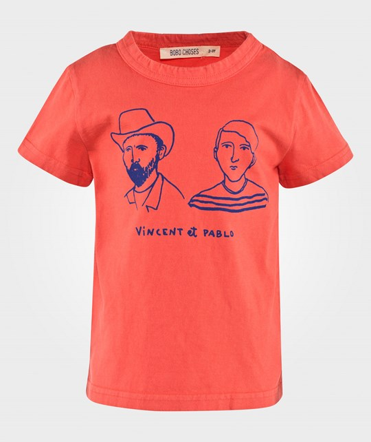Bobo Choses T-shirt Vincent et Pablo Ground Red Ground red