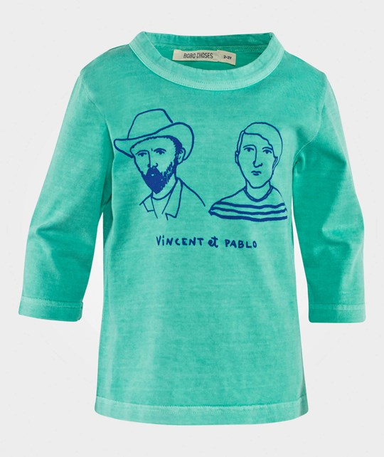 Bobo Choses T-shirt Vincent et Pablo Moss Green  Moss green