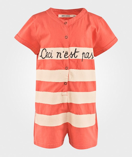 Bobo Choses Штаны Overall Ceci N´est Pas Ground Red Ground red