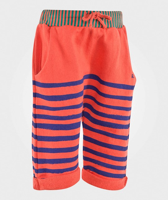 Bobo Choses Fleece Trousers Stripes Blue/Ground Red Ground red