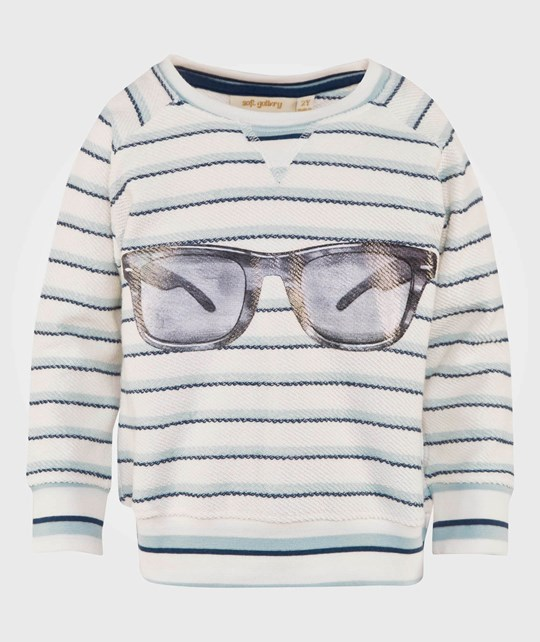 Soft Gallery Silas Sweatshirt Indigo Stripe Indigo Stripe Sunnies