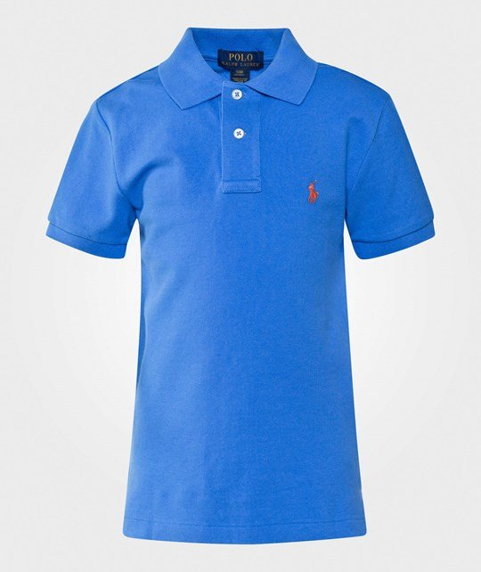 Ralph Lauren Custom-Fit Cotton Polo Shirt Jewel Blue Jewel Blue