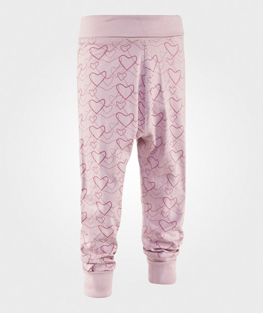 Bambu Balloon Pants Big Heart Print Rosa