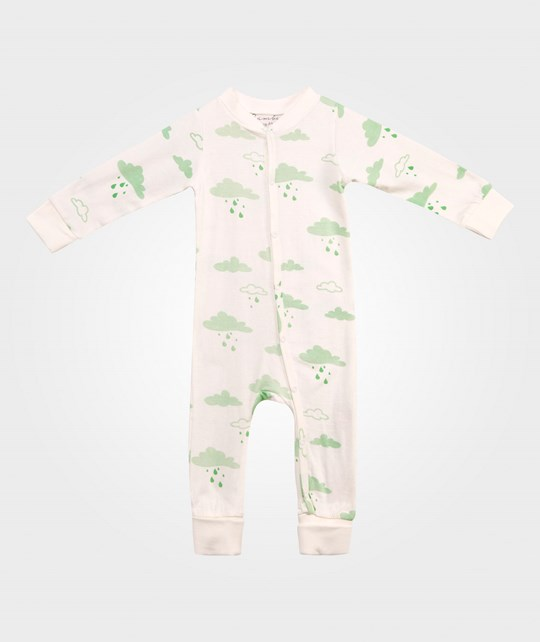 Bambu Balloon Pyjamas Cloud Print White