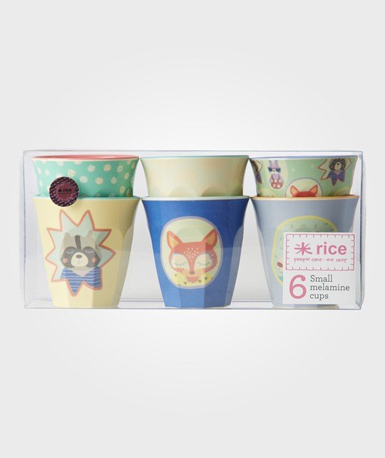 Rice 6 Small Happy Camper Melamine Cups пестрый