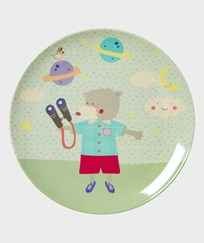 RICE A/S Happy Camper Melamine Plate Turkis