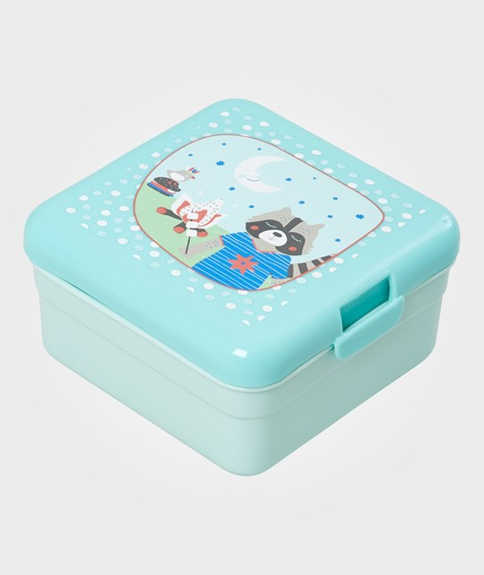Rice Small Happy Camper Lunchbox Turquoise