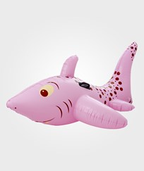 RICE A/S Inflatable Shark Rider Pink Rosa