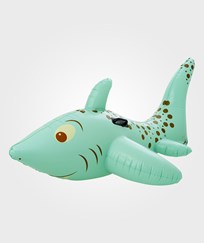 RICE A/S Inflatable Shark Rider Green Green