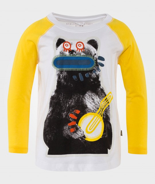 Stella McCartney Kids Max Bear T-shirt Cream