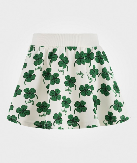 Mini Rodini Clover Sweatskirt Off White 白色
