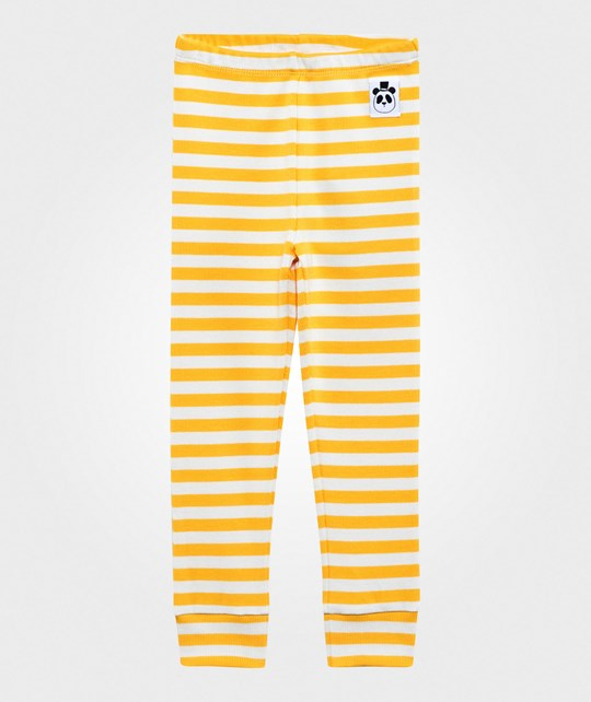 Mini Rodini Stripe Rib Leggings Yellow Yellow