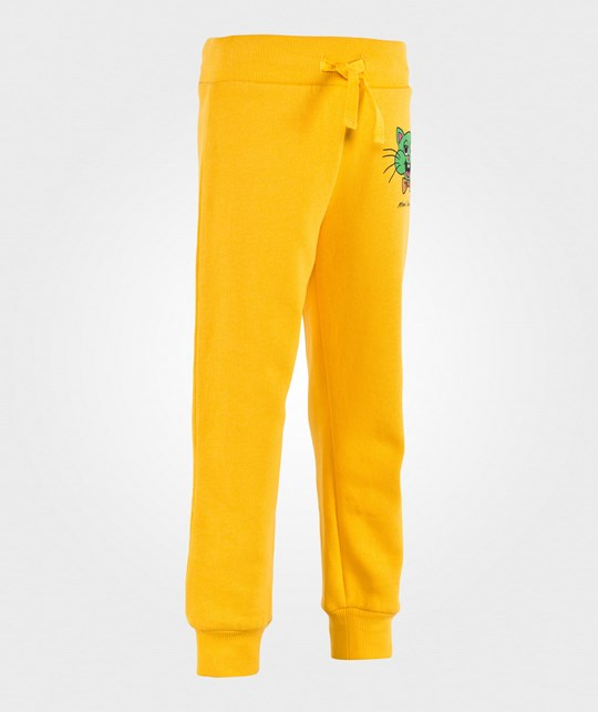 Mini Rodini Cat Sweatpants Yellow Yellow