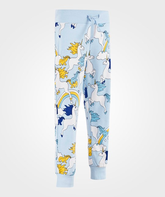 Mini Rodini Unicorn Aop Sweatpants Lt Blue Lt Blue