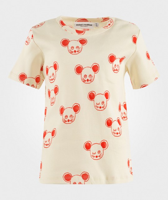 Mini Rodini Mouse Aop Ss Tee Red Red