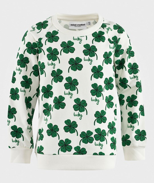 Mini Rodini Clover Sweatshirt in Offwhite 白色